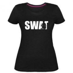 Женская стрейчевая футболка SWAT