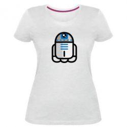 Женская стрейчевая футболка Sweet R2D2