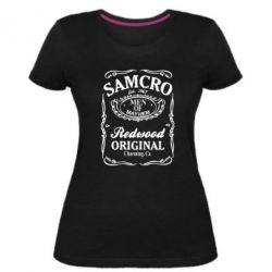 Женская стрейчевая футболка Сыны Анархии Samcro