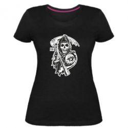 Женская стрейчевая футболка Сыны Анархии