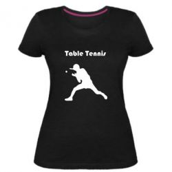 Жіноча стрейчева футболка Table Tennis Logo