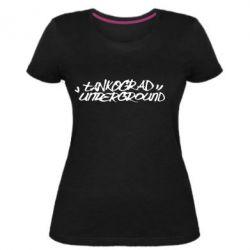 Жіноча стрейчева футболка Tankograd Logo