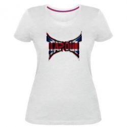 Женская стрейчевая футболка Tapout England