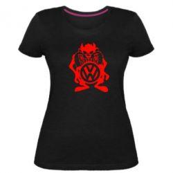 Женская стрейчевая футболка Тасманский дьявол Volkswagen