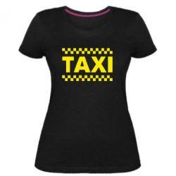 Женская стрейчевая футболка TAXI - FatLine