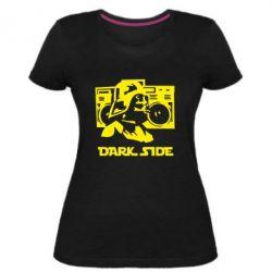 Женская стрейчевая футболка Темная сторона Star Wars
