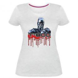 Женская стрейчевая футболка Терминатор Т-800