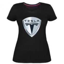 Жіноча стрейчева футболка Tesla Corp
