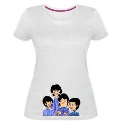 Женская стрейчевая футболка The Beatles - FatLine