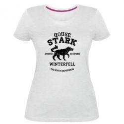 Женская стрейчевая футболка The North Remembers - House Stark
