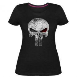 Женская стрейчевая футболка The Punisher Logo