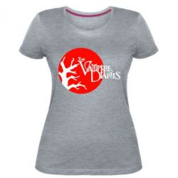 Женская стрейчевая футболка The Vampire Diaries