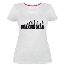 Женская стрейчевая футболка The Walking Dead Evolution - FatLine