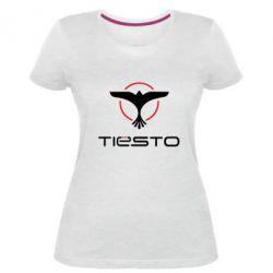 Купить DJ Tiesto, Женская стрейчевая футболка Tiesto Logo 3, FatLine