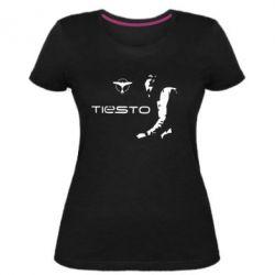 Женская стрейчевая футболка Tiesto