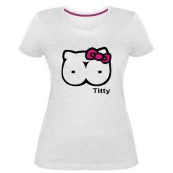 Женская стрейчевая футболка Titty