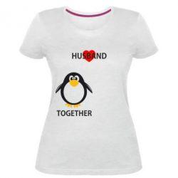 Женская стрейчевая футболка Together forever2