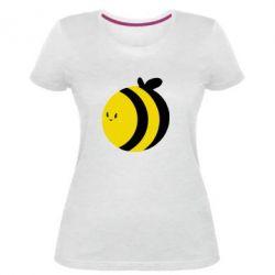 Женская стрейчевая футболка толстая пчелка
