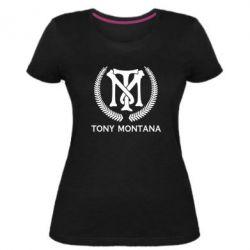 Жіноча стрейчева футболка Tony Montana Logo