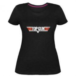 Жіноча стрейчева футболка Top Gun Logo