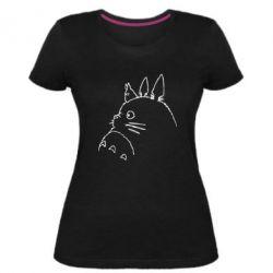 Жіноча стрейчева футболка Тоторо