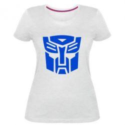 Женская стрейчевая футболка Трансформеры Автоботы