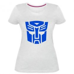 Жіноча стрейчева футболка Трансформери Автоботи