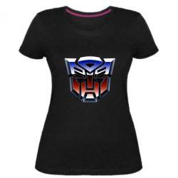Жіноча стрейчева футболка Трансформери Лого 1