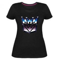 Женская стрейчевая футболка Трансформеры Лого 2