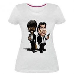 Женская стрейчевая футболка Travolta & L Jackson