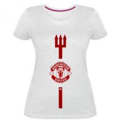 Жіноча стрейчева футболка Тризуб Манчестер