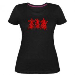 Жіноча стрейчева футболка Три богатиря