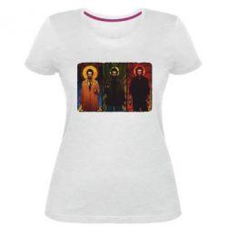 Женская стрейчевая футболка Трио Сверхъестественное