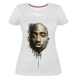 Купить Женская стрейчевая футболка Tupac Shakur, FatLine