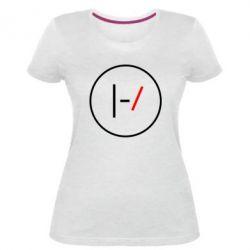 Женская стрейчевая футболка Twenty One Pilots Logotype