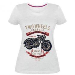 Жіноча стрейчева футболка Two Wheels Forever 1930