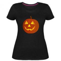 Жіноча стрейчева футболка Тыква Halloween