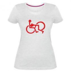 Жіноча стрейчева футболка задоволення