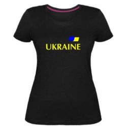 Жіноча стрейчева футболка FLAG UKRAINE