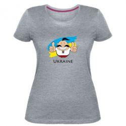 Женская стрейчевая футболка Ukraine kozak