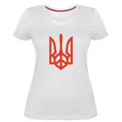 Женская стрейчевая футболка Ukraine Peace