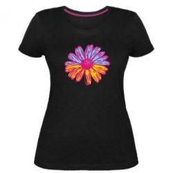 Женская стрейчевая футболка Українська квітка