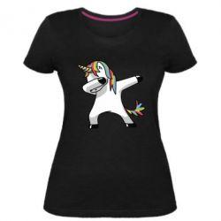 Женская стрейчевая футболка Unicorn SWAG