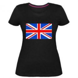 Женская стрейчевая футболка Великобритания