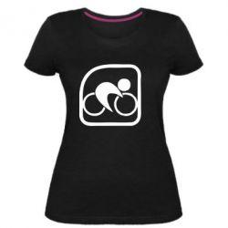 Женская стрейчевая футболка Велоспорт