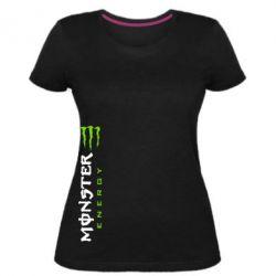 Жіноча стрейчева футболка Вертикальний Monster Energy