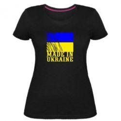 Жіноча стрейчева футболка Виготовлено в Україні