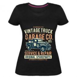 Жіноча стрейчева футболка Vintage Truck
