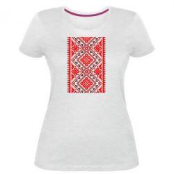Жіноча стрейчева футболка Вишиванка