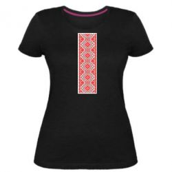 Женская стрейчевая футболка Вишиванка